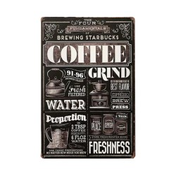 Metal wall plate coffee...