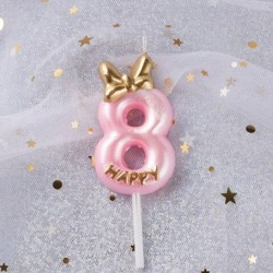 Number candle pink 8...